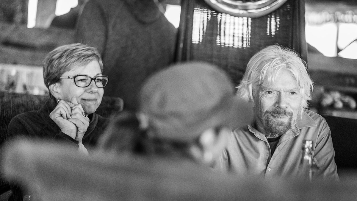 Kim Seeling Smith and Sir Richard Branson, South Africa, November 2018.