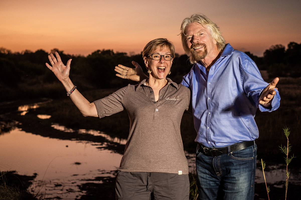 Kim Seeling Smith and Sir Richard Branson