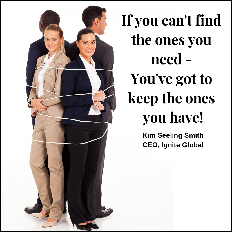 If you can't find the ones you need, you need to keep the ones you have! - Kim Seeling Smith