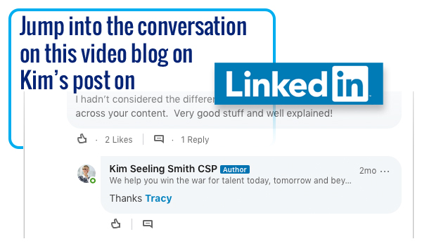 Jump into the conversation on this video on Kim's LinkedIn post